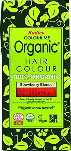 Radico Colour Me Organic Pflanzenhaarfarbe Erdbeerblond Strawberry Blonde Rotblond (bio, vegan, Naturkosmetik) strawberry