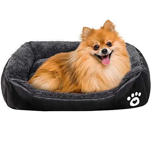 Urijk - Cama para perro y gato, suave, lavable, resistente al agua, diseño Oxford, para cachorros, perros pequeños, medianos y grandes, suave forro polar, con base antideslizante