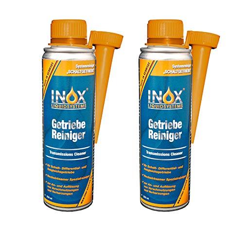 INOX® Getriebereiniger Additiv, 2 x 250 ml - Getriebe-Spülung löst Verschmutzungen im Getriebesystem, für alle Getriebearten