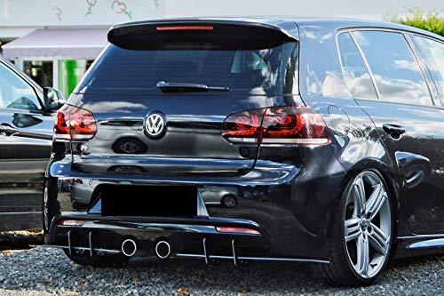 Heckansatz Heckeinsatz Diffusor für Golf 6 R MK6 ABS heckschürze DTM Flaps