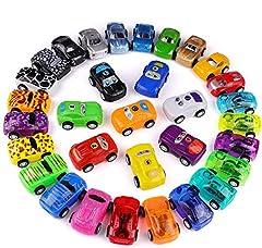 Idea Regalo - Funmo Macchinina,Mini Auto Set Giocattolo Bambini,Auto da Corsa Auto Tirare Indietro Veicoli.Giochi per Bambini Giocattoli educativi precoci per Bambini e Bambine da 1 2 3 Anni(32 Pezzi)