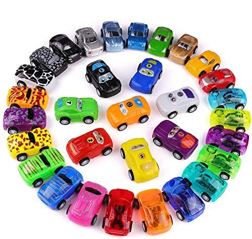 Funmo Macchinina,Mini Auto Set Giocattolo Bambini,Auto da Corsa Auto Tirare Indietro Veicoli.Giochi per Bambini Giocattoli educativi precoci per Bambini e Bambine da 1 2 3 Anni(32 Pezzi)