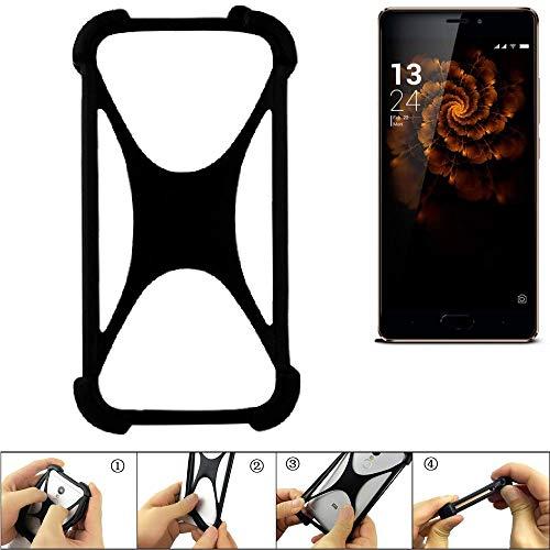 K-S-Trade® Handyhülle Für Allview X3 Soul Pro Schutz Hülle Silikon Bumper Cover Case Silikoncase TPU Softcase Schutzhülle Smartphone Stoßschutz, Schwarz (1x),