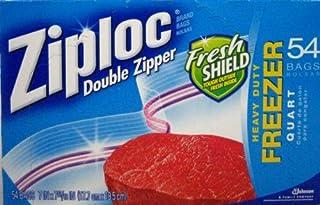 Ziploc ジップロック ダブルジッパーフリーザー用バック54枚×4 216枚 食品冷凍保存バッグ