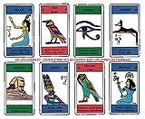 Tarot des Hierogliyphes – Juego de 80 tarjetas – Tarjetas de visión con explicación de 80 hojas (libro en FR) – Tarot y Oracle Egipcio Divinatorio