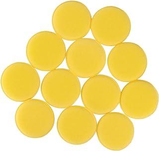 Garneck Conjunto de 24 peças de almofada aplicadora de cera de carro, almofada de polimento de esponja de microfibra, almo...