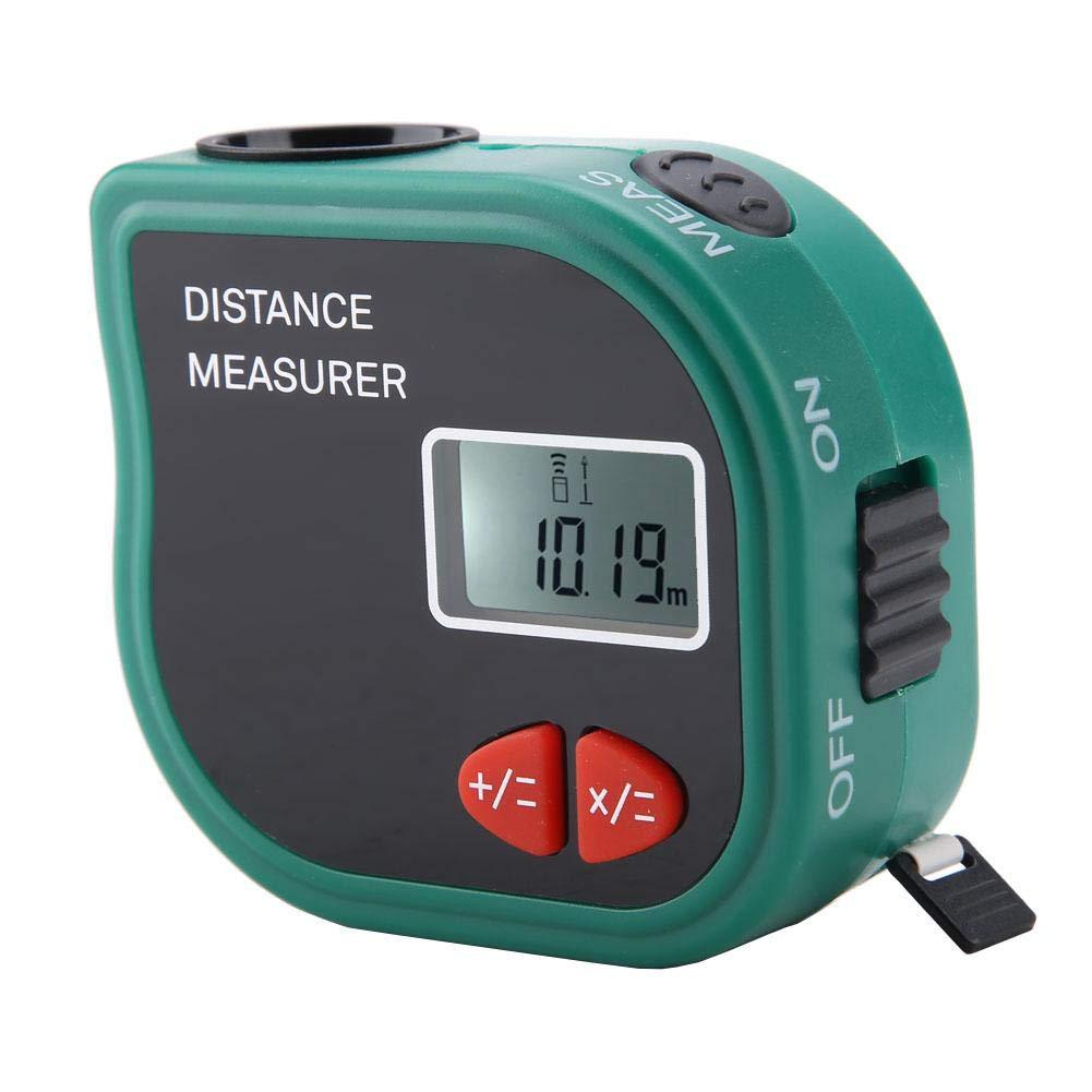 Medidor de distancia, LCD portátil Medidor de distancia ultrasónico Medición Cinta métrica electrónica