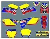 Hjunisshkm Decladores de Motocicletas Pegatinas Kit de gráficos Kit de decancia gráfica para KTM SX 2005-2006 HFDYJ (Color : 9)