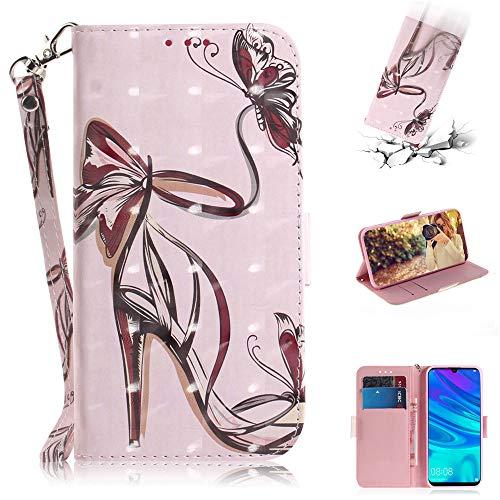 Capa tipo carteira XYX para iPhone SE, [Al?a de pulso] Capa protetora tipo carteira de couro PU colorida para iPhone 5s / iPhone SE (salto alto borboleta)