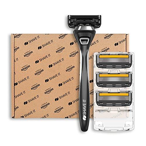 Shave It Pro, 5-Klingen-Rasierer mit Griff und 4...