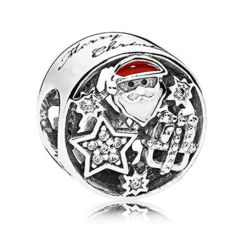 PANDOCCI 2017 regali di natale gioia stella perline autentica 925 sterling silver fai da te adatto per originale pandora bracciali gioielli moda di fascino