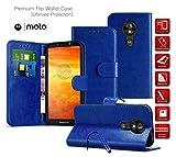 Motorola Moto G6 Play Case Premium Leather Wallet Case with