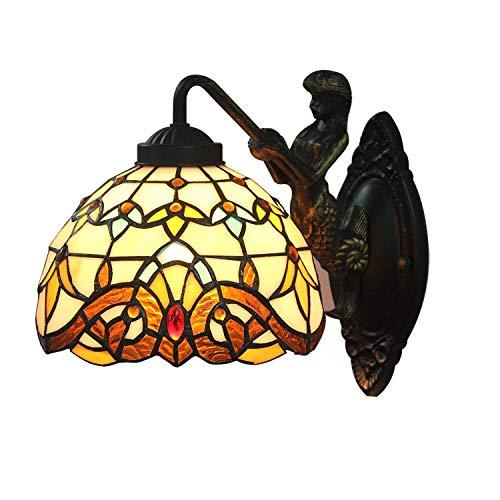 Lampe de table de chevet Lampes de nuit Crystal Li 8 pouces Applique Tiffany baroque européenne Simple murale design chic moderne Lampe for Salon Intérieur Chambre Applique Salle café
