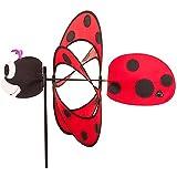 HQ Windspiration 10083717 - Paradise Ladybug, UV-beständiges und wetterfestes Windspiel - Höhe: 100 cm, Tiefe: 42 cm, Ø: 40 cm, inkl. Standstab und Bodenanker