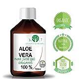 Gel Biologico di Aloe Vera Fresca 99.99% Doposole, Antibatterico, Antisettico, Idratante, Dopobarba....