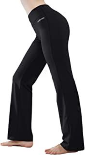 Inner Pocket Yoga Pants 4 Way Stretch Tummy Control...