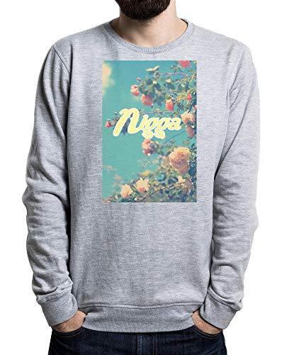 Nigga Primavera Hombre Suéter Gris Large
