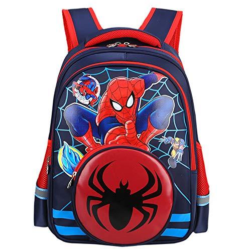 CDREAM Wasserdicht Kinder Schulrucksack Leichte Teenager Rucksäcke Für Jungen Und Mädchen Schultaschen 3-6 Jahre,Spiderman-36 * 28 * 14cm