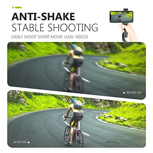 Neewer Pro Smartphone Rig Filmemacher Griff (8cm) mit Kaltschuhhalterung und verstellbarem 2 bis 3,6 Zoll Handyklammer Kompatibel mit iPhone 11/11 Pro/11 Pro Max Samsung Galaxy S10+10