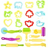 <span class='highlight'><span class='highlight'>FlowersSea</span></span> 20Pcs Kids Play Dough Tools Set Clay Modelling Dough Craft Rolling Pins Cookie Cutters Extruders Kit