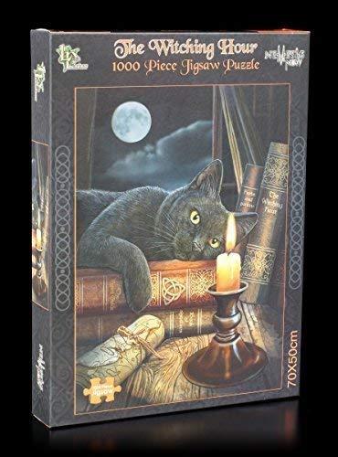 Fantasy Puzzle 1000 Teile   Schwarze Hexen Katze   The Witching Hour