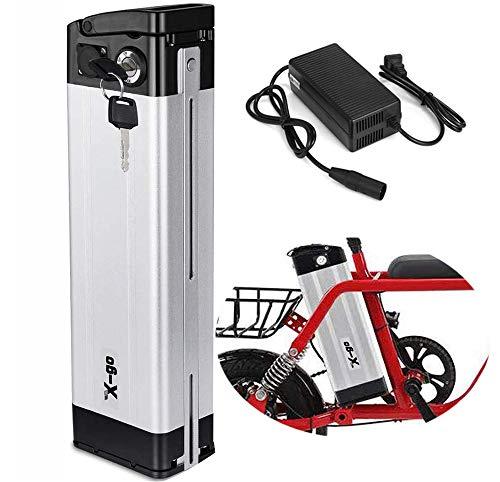 bater/ía de Bicicleta el/éctrica Negra con Cargador bater/ía de Bicicleta el/éctrica X-go Bateria para Bicicleta Electrica 36v Bater/ía EBike 36V 10AH Bater/ía Recargable de Iones de Litio