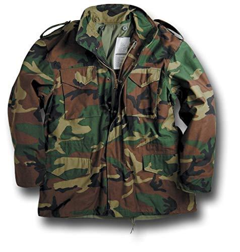 Genuine US Military Issue M-65 Field Jacket (Woodland Camo, Medium 2X-Short)