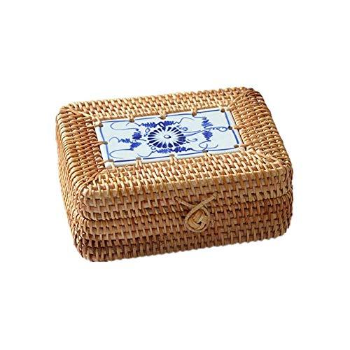 Gymqian Niño Caramelo Aperitivos Cestas de Almacenamiento Canasta de Pascua Escritorio Restos Azul Cajas Organizadoras Restaurante Cesta de Pan Canasta de Frutas en Ratán Bandeja de