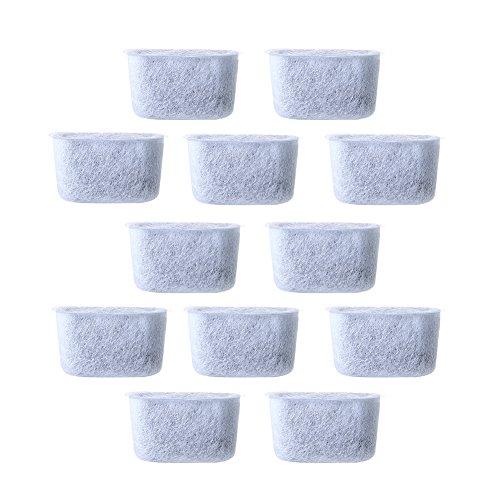 Kohle-Kaffeefilter, 12 Stück, Ersatz-Vlies-Aktivkohle-Wasserfilter für Cuisinart-Kaffee, passend für alle Cuisinart-Kaffeemaschinen (4,7 x 2,1 x 2,6 cm, weiß)