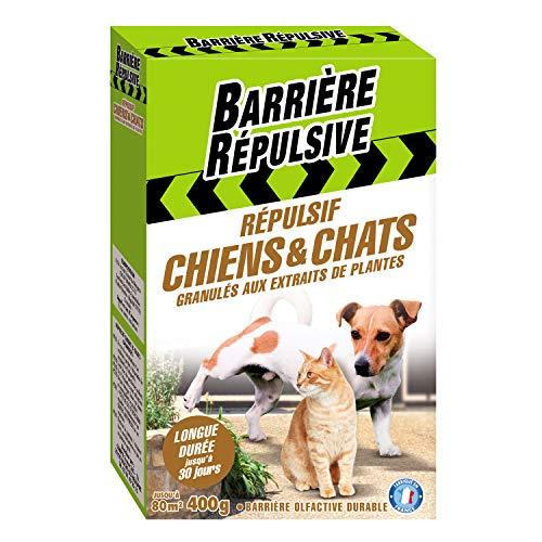 BARRIERE REPULSIVE Répulsif Chiens et Chats, Extérieur, Jusqu'à 80 m², 400 g