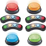 IQ Toys 8 Piece Answer Buzzers Set, Includes 4 Light Bars and 4 Individual Buzzers with Lights and Sounds, Great for Kids Game Shows, Parties and Classrooms