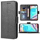 Phone Case for Oneplus 5T Folio Flip Wallet Case,PU Leather Credit Card Holder Slots Heavy Duty Full Body Protection Kickstand Phone Cover for Oneplus5T A5010 One Plus5T 1 Plus 1plus 1+ 1+5T Black
