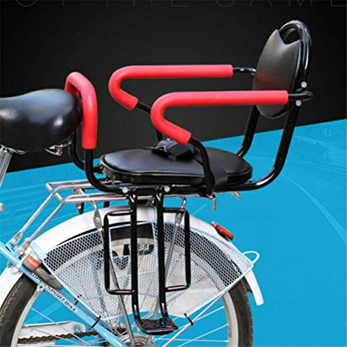 LKAIBIN Juego de reposapiés para asiento trasero de bicicleta de cross country, cojín de asiento trasero para niños, cojín para reposabrazos y pedal desmontable.