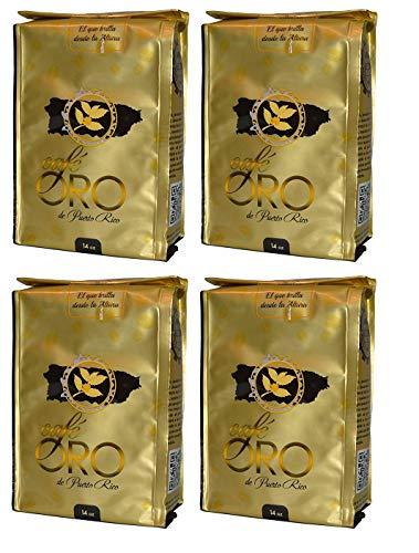 Cafe Oro de Puerto Rico 14oz / Puerto Rican Coffee 14oz (4 Pack)
