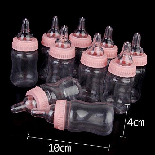 B Blesiya Petit Biberon Baptême Baby Shower Favorise Décor De Partie 12pcs Rose