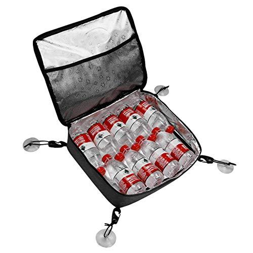 Watermelon Bolsa térmica portátil de 11 L, bolsa térmica 600D, tela Oxford, plegable, bolsa de hielo con aislamiento, lonchera a prueba de fugas, para camping, picnic