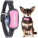 GoodBoy Small Dog Bark Collar for Little, Medium and Large Breeds - Sound Vibration or Shock Modes Control Unwanted Barking - Rechargeable No Bark Training Device - New 2019 Sensor & Chip Upgrade