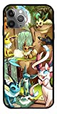 GIDUN Phone Case Compatible with iPhone 12 11 X Xs Xr 8 7 6 6s Plus Mini Pro Max 3D Stuffed Animals Legends Arceus Eevee Evolution Cute Pokemon Go Cards Pure Clear Cases Cover Full Body