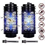 Hengda 2x LED Insektenvernichter mit UV-Licht Camping Mückenvernichter elektrisch Küchen Insektenfalle Fluginsekten GARTEN