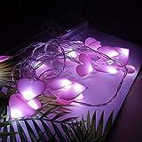 Luces navideñas Lámpara De Luz Led De Cadena Corazón En Forma De Habitación Jardín Decoración De Fiesta De Bodas De Navidad