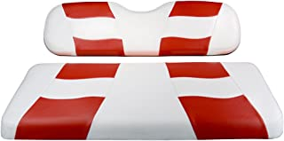 Madjax Riptide 2001-Up White/Red Two-Tone Front Seat Cover for Club Car DS Golf Carts