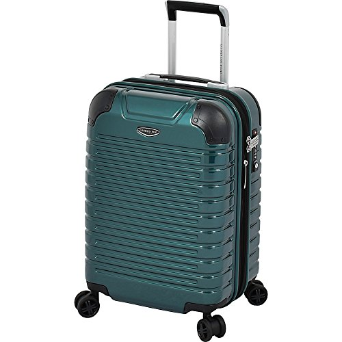 LONDON FOG Dover Hardside Expandable Spinner Luggage, Teal, Carry-On 20-Inch
