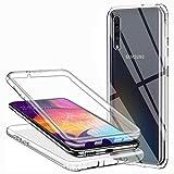 Funda para Samsung Galaxy A50/ Samsung Galaxy A30S, Silicona Transparente 360 Grados Delantera...