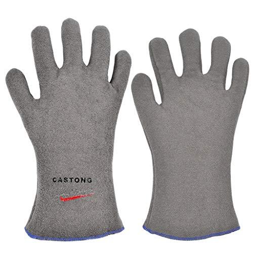 Isolierte Handschuhe, Grillhandschuhe, Industrielle Schutzhandschuhe Gegen Verbrühungen, Hohe Temperaturbeständigkeit ZZBiao (Size : 45cm)