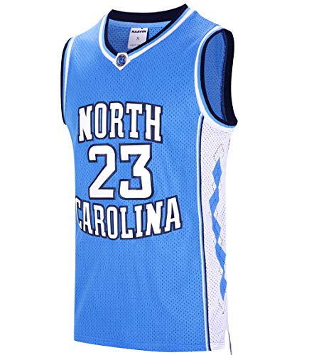 RAAVIN #23 North Carolina Herren Basketball-Trikot, Retro-Trikot, Blau, S-3XL - blau - Mittel
