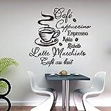 Jsnzff Vinilo Decorativo Cafeteria Decoracion con Cafe vinilos Decorativos 58x56cm