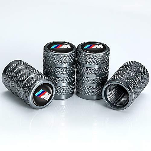Car Wheel Tire Air Valve Caps Stem Cover (4 Pcs) for BMW M 1 3 5 6 7 X1 X3 X5 X6 X7 Z4 Series Logo Styling Decoration Accessories.