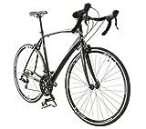 Bicicleta de carretera Cobra 700C de British Eagle, de fibra de carbono, color negro, para hombre