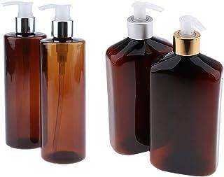Perfeclan ポンプボトル 大容量 ロック可能 プラスチック+アルマイトアルミ シャンプーアトマイザー 4本セット