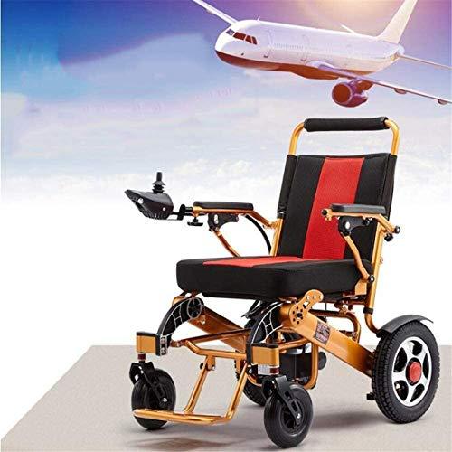Elektrorollstuhl Medizin und Rehabilitation Stuhl, Rollstuhl, Elektro-Rollstuhl, 29kg mit Batterie Manuell Licht Folding Carry Durable Elektro-Rollstühle for Behinderte Ältere im Freien angenehm Leder